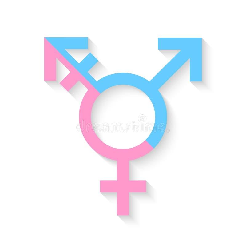 Tredje genus- och sexsymbolbegrepp stock illustrationer