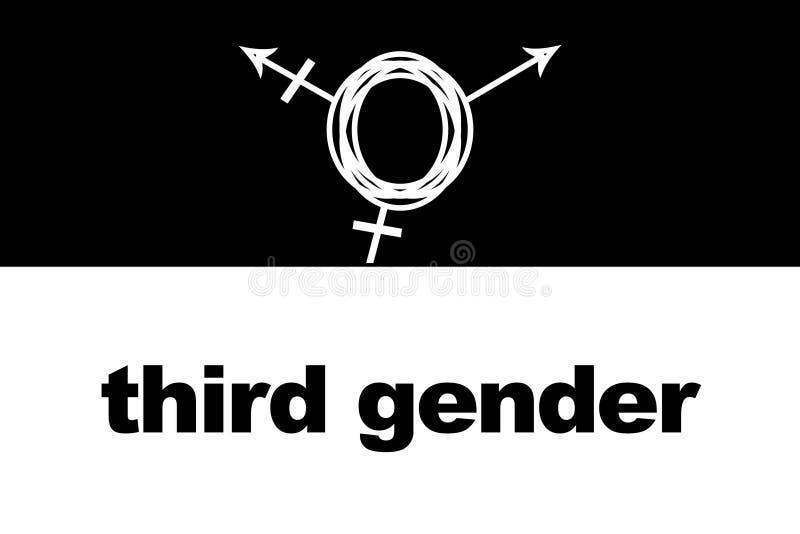 Tredje genus Transgendersymbol stock illustrationer