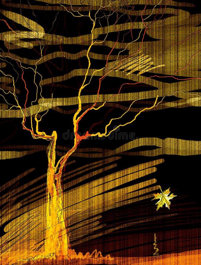 Download Tree stock illustration. Illustration of wind, grunge - 17141222