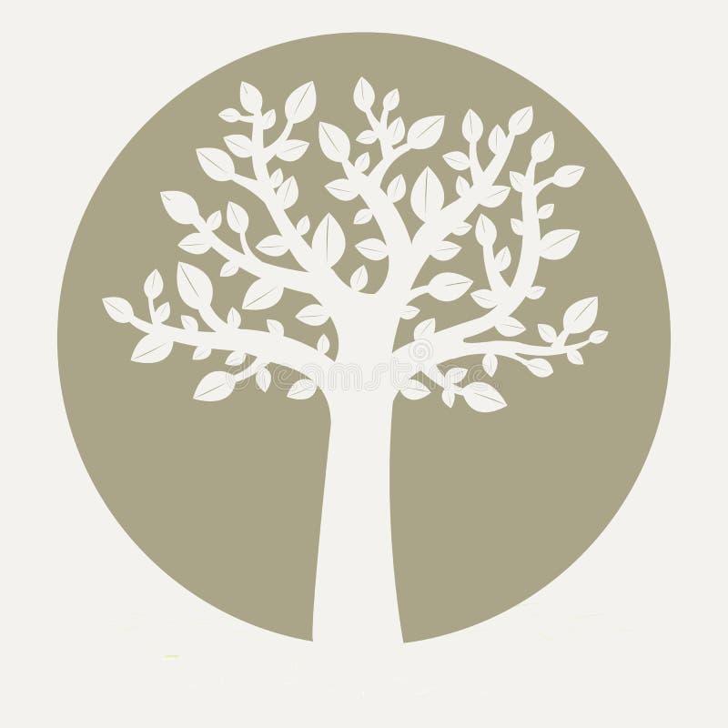 Tree. Eco Silhouette Tree, Vector Illustration