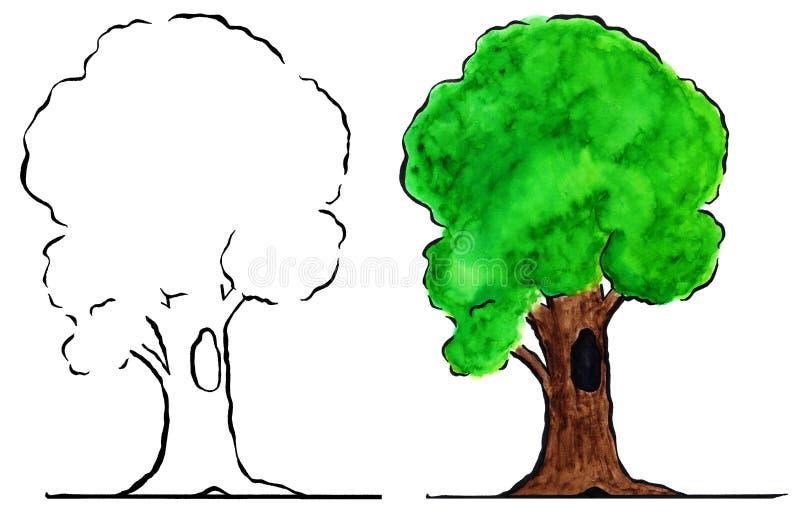 Download Tree stock illustration. Illustration of water, dark - 21190176