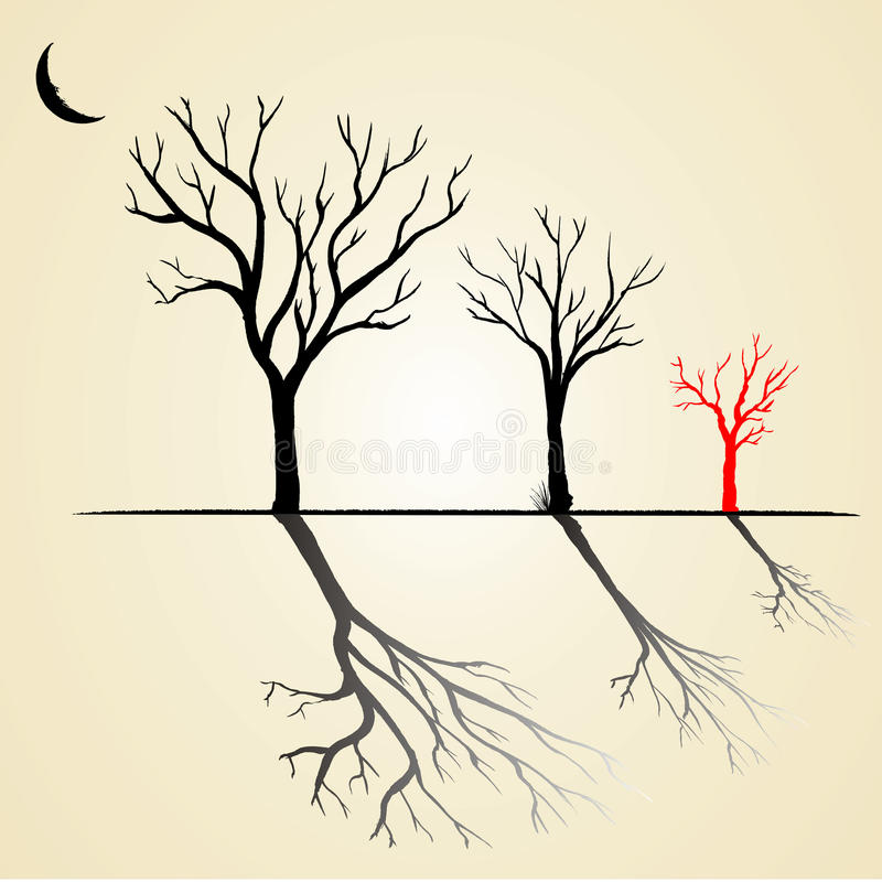 Download Tree stock vector. Illustration of plant, front, bizarre - 26974959