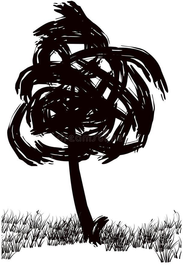 Download Tree stock illustrationer. Illustration av illustrera, skugga - 283739