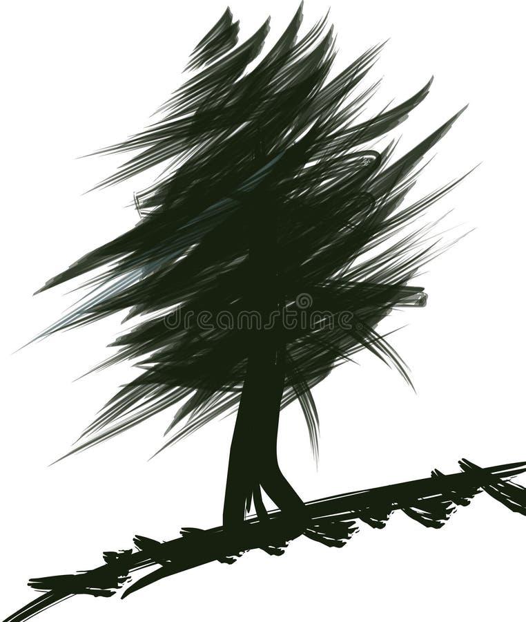 Download Tree stock illustrationer. Illustration av liggande, illustration - 283789