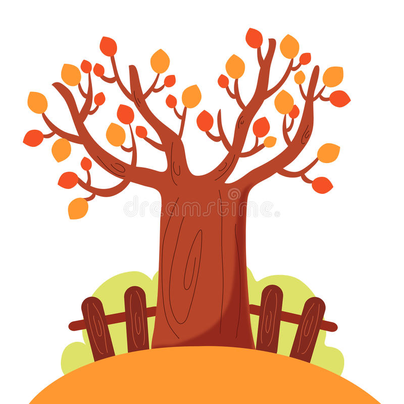 Download Tree in autumn stock vector. Illustration of trees, illustration - 22653295