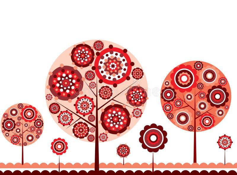 Tree autumn background, vector vector illustration