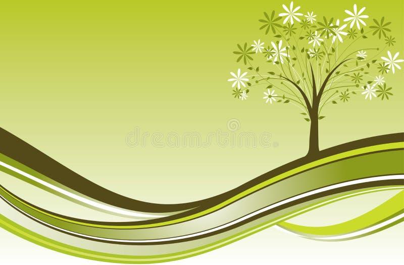 Tree background, vector royalty free illustration