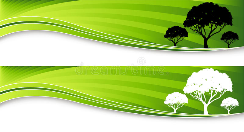 Tree Banners royalty free illustration