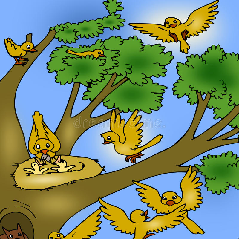 Download Tree With Birds Royalty Free Stock Photos - Image: 14717278