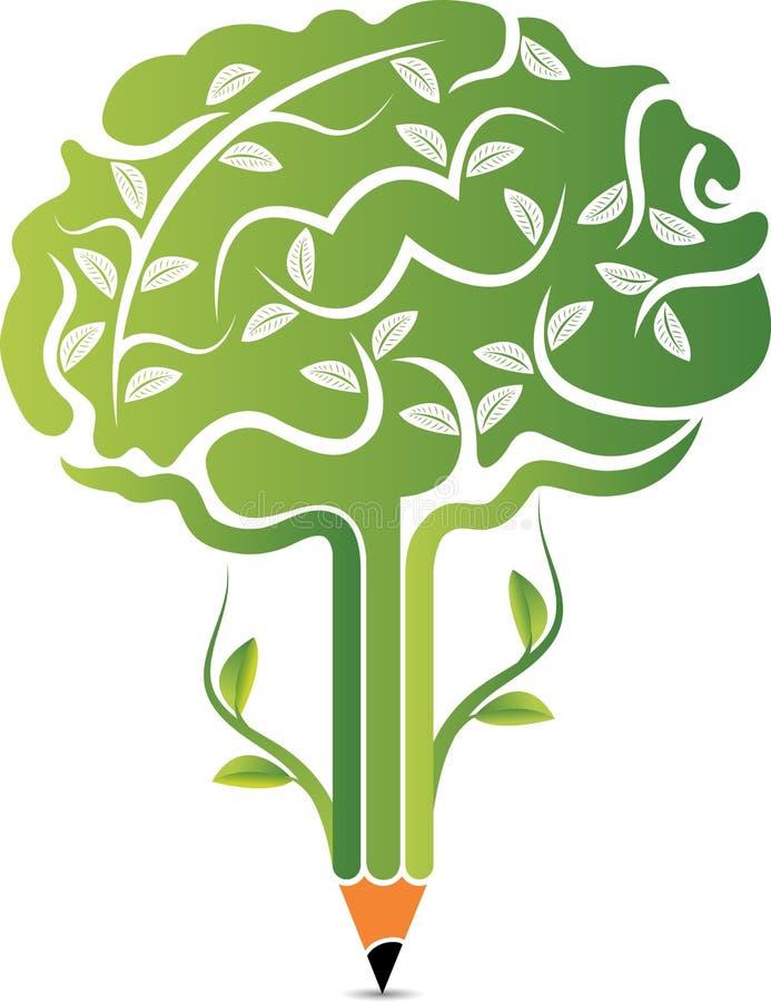 Tree brain logo vector illustration