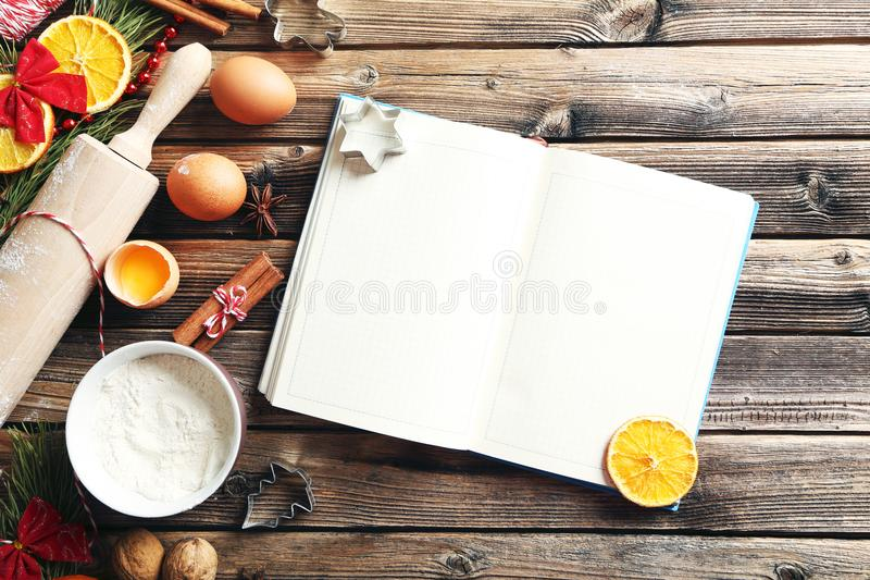 Tree branch with oranges, cinnamon and eggs stock images