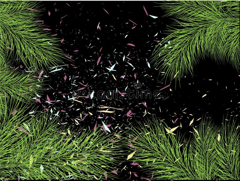 Tree branches for decorative design. Tree decoration. Christmas decor. Modern abstract image with tree branches on light royalty free illustration