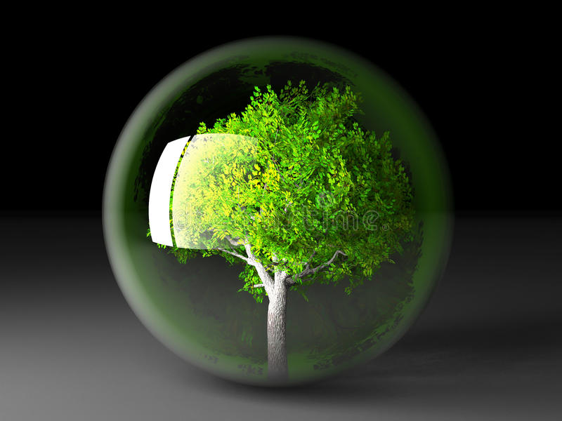 Download Tree in a bubble stock illustration. Image of outside - 21084036