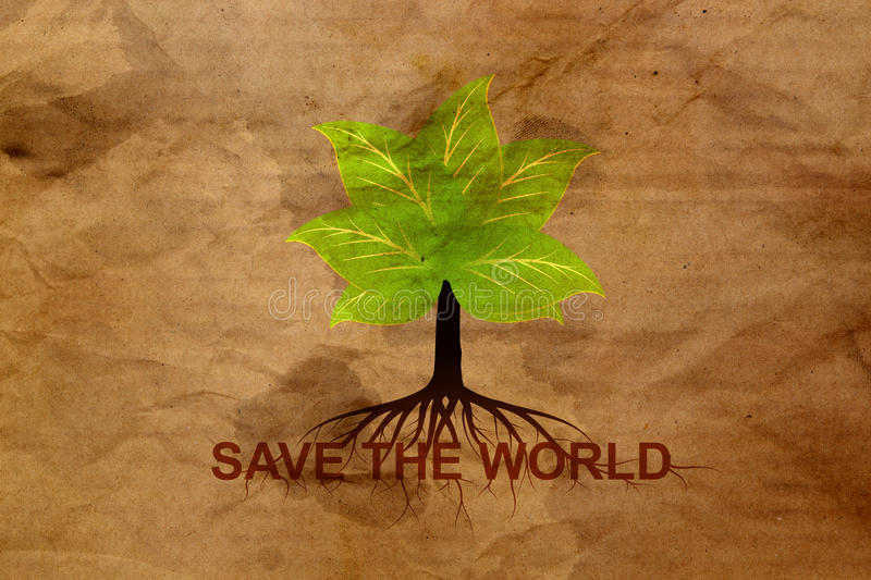 Download Tree On Cardboard Royalty Free Stock Image - Image: 25633706