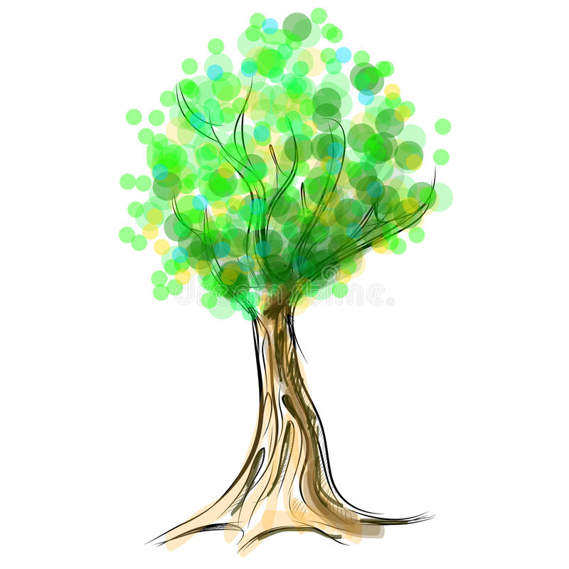 Download Tree Cartoon Icon Isolated On White Stock Vector - Illustration: 34459280