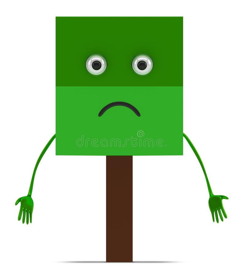 Free Tree Character Isolated Royalty Free Stock Photos - 53001908