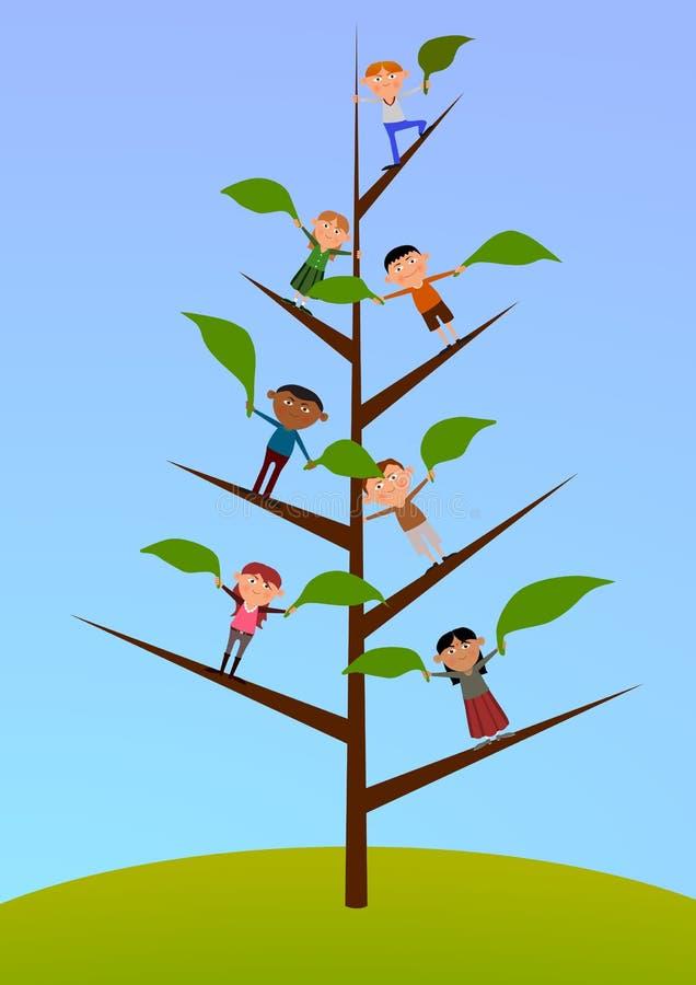 Tree of children vector illustration