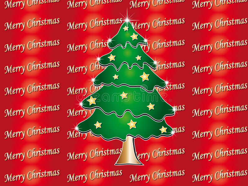 Tree christmas stock illustration