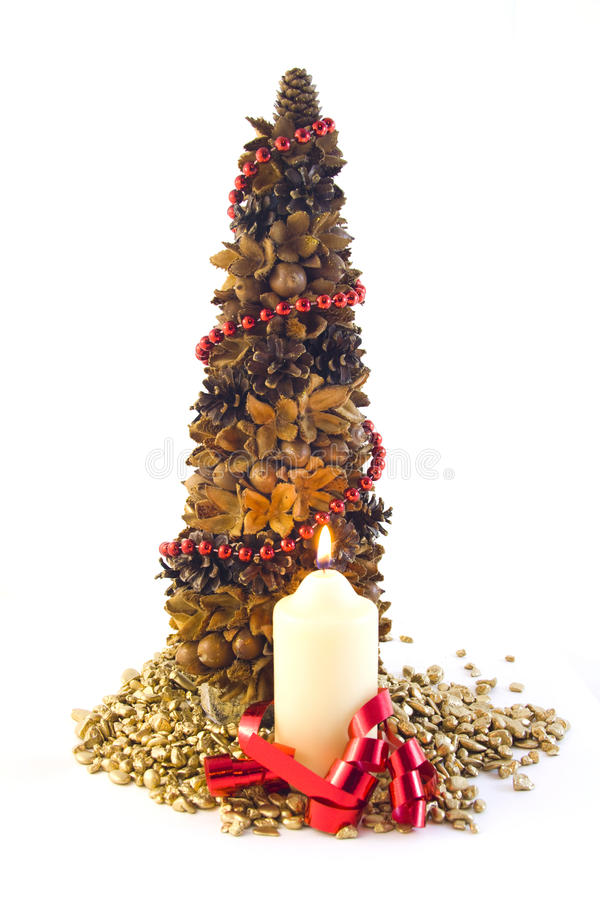 Download Tree christmas stock image. Image of colorful, flame - 16007627