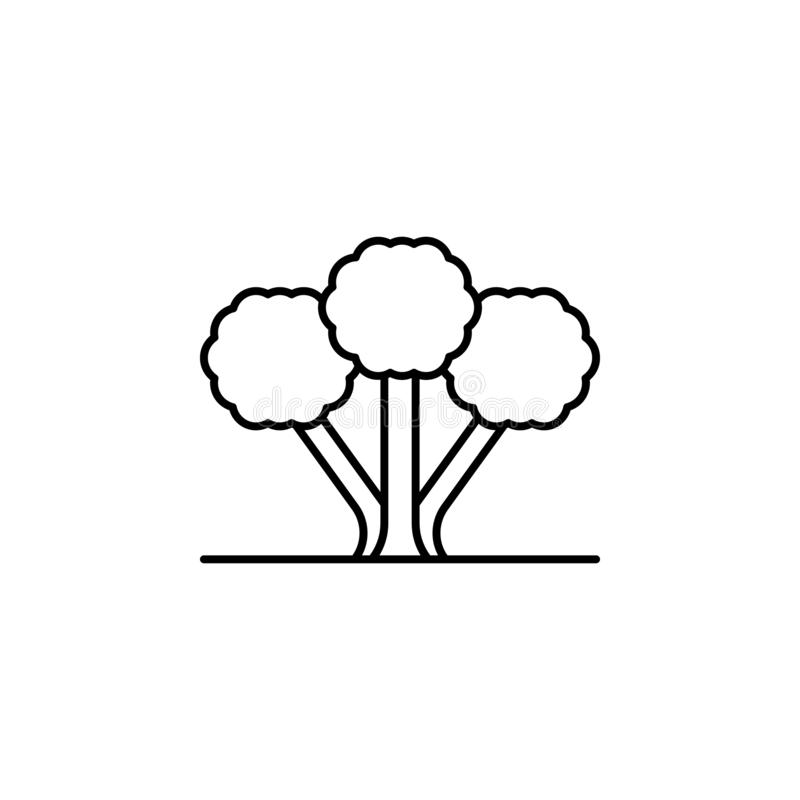 Tree, cinnamon icon. Simple thin line, outline vector of trees icons for ui and ux, website or mobile application stock illustration