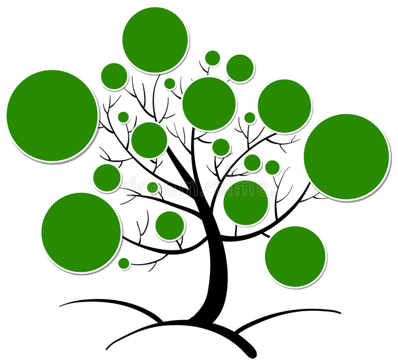 Tree clipart. Illustration of tree clipart on a white background stock illustration