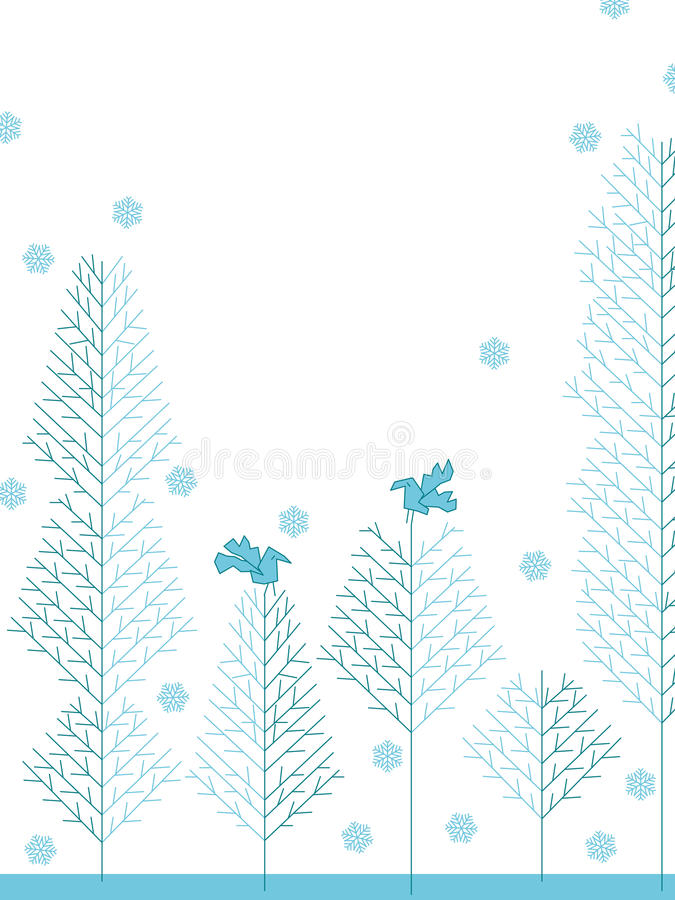 Tree cold design_eps. Illustration of corner lines draw the winter atmosphere. Cool like cold life. --- This .eps file info Version: Illustrator 8 EPS Document royalty free illustration
