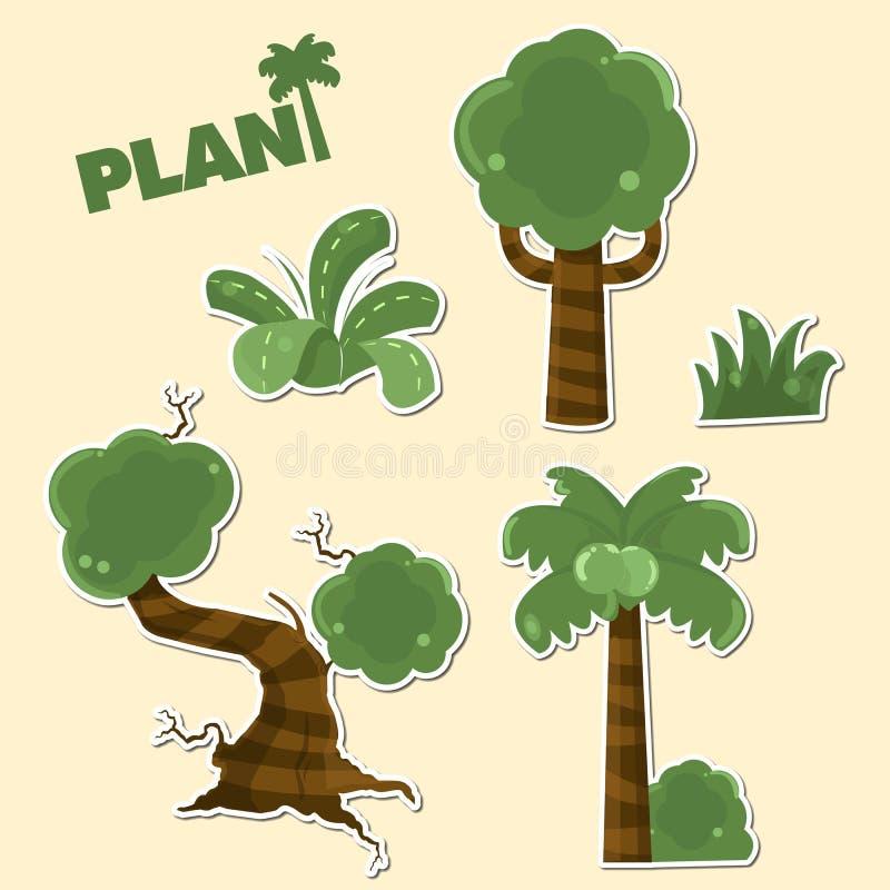 Tree colection stock photo