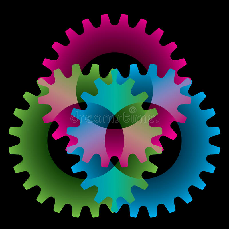Tree colored gears