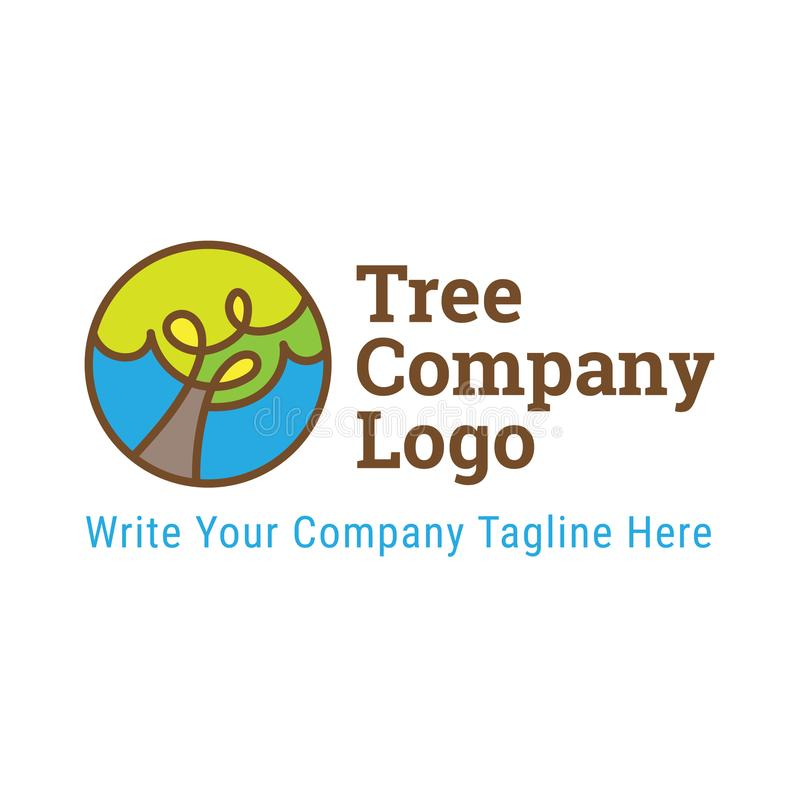 Tree Company Logo Template Icon Vector Illustration stock de ilustración