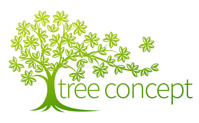 Tree Concept. Illustration with space for text royalty free illustration