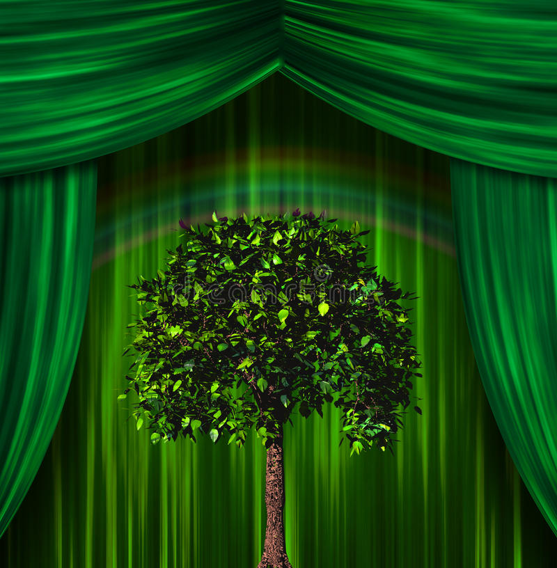 Download Tree before curtains stock illustration. Illustration of element - 22644517