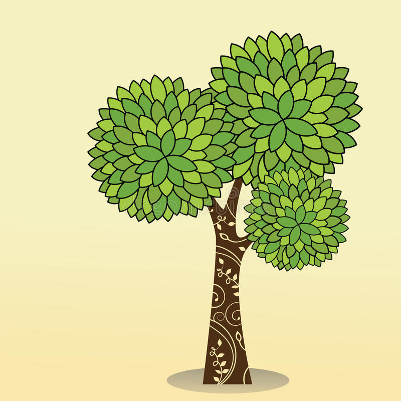 Download Tree decorative trunk stock vector. Image of botany, environmental - 14518236