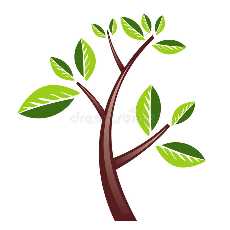 Tree design. Heavy Tree design isolated in white. An additional Vector .Ai file available. ( Illustrator 10 or above support vector illustration