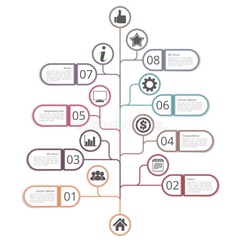 Tree Diagram Template royalty free illustration