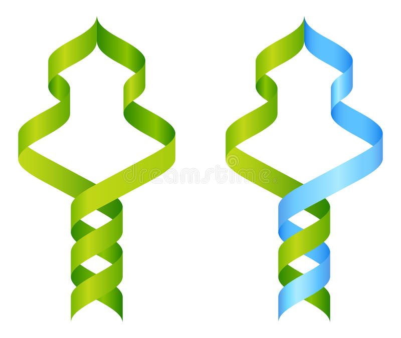 Tree DNA Icon Concept stock illustration