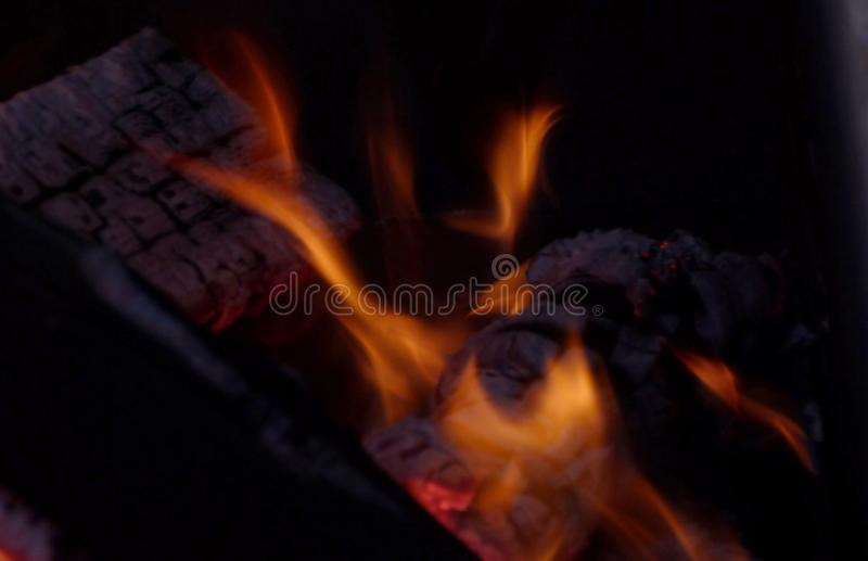 Beautiful fire burns royalty free stock photos