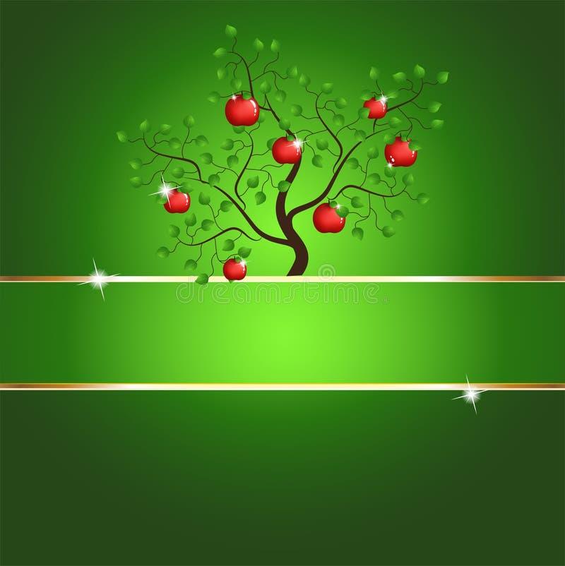 tree för äpplekortmagi royaltyfri illustrationer