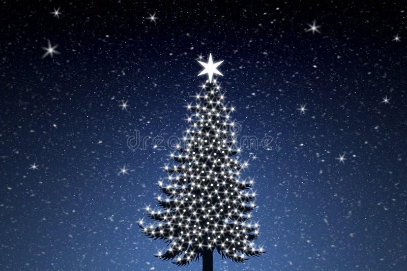 tree för 2 jul stock illustrationer
