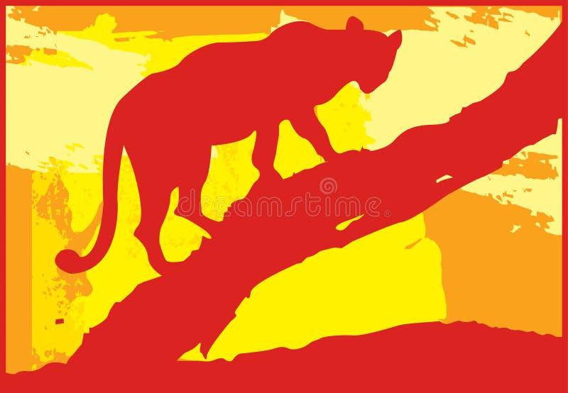 tree för 2 leopard royaltyfri illustrationer