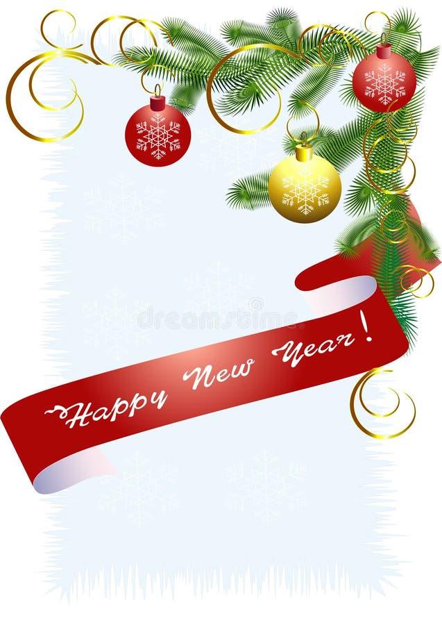 tree för band för blå jul för backg ljusröd vektor illustrationer
