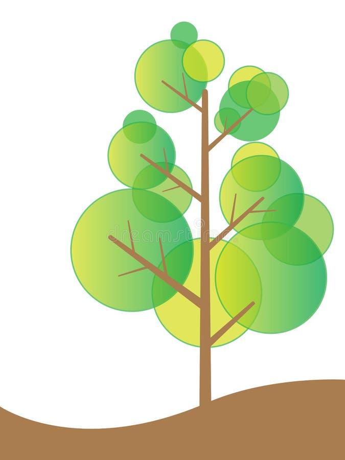 tree för begreppsecovänskapsmatch stock illustrationer