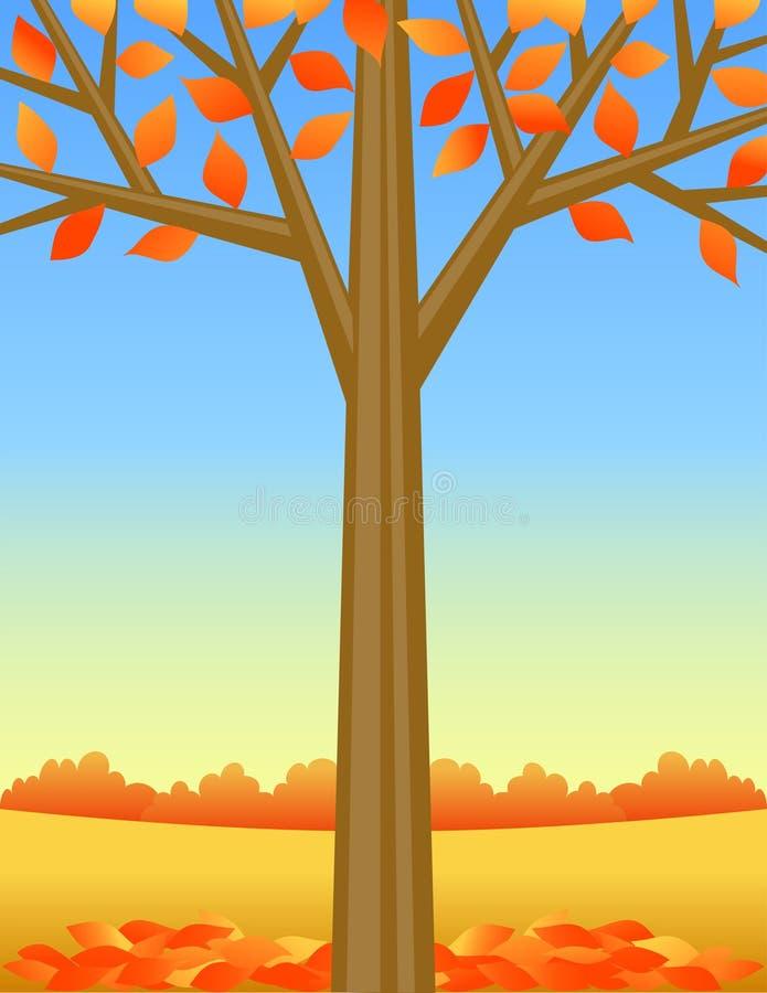 tree för höstbakgrundseps royaltyfri illustrationer