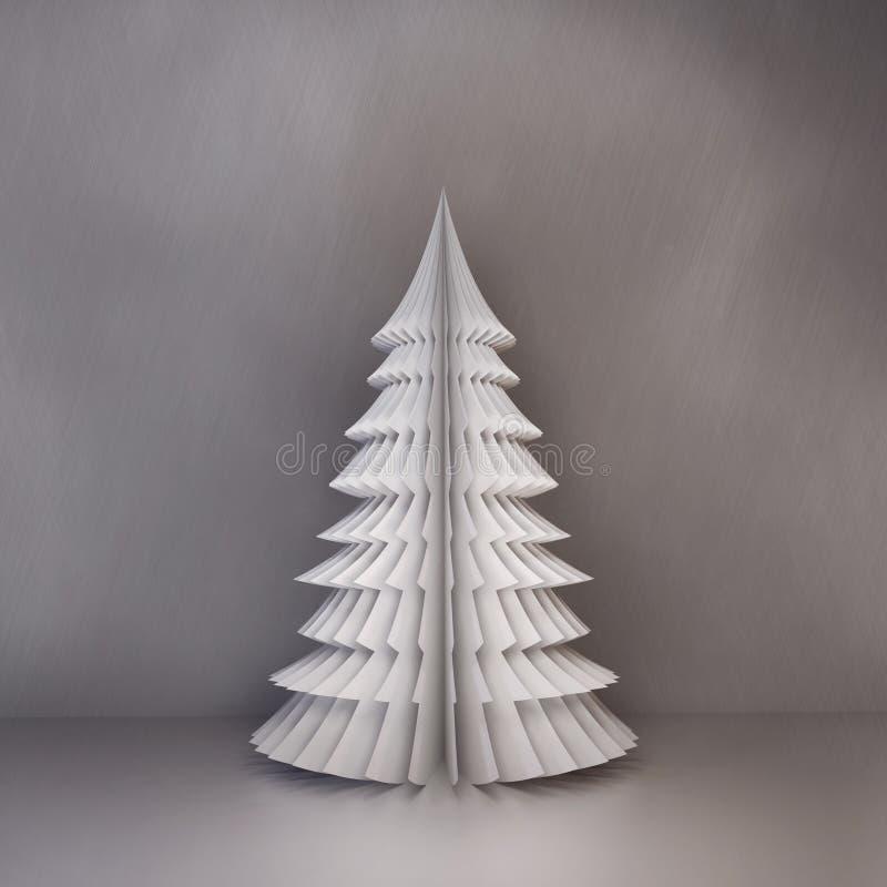 tree för red för papper för bakgrundsjulillustration vektor illustrationer