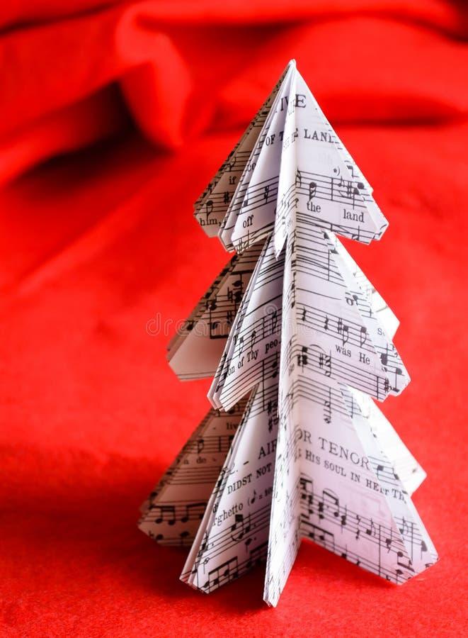 tree för red för papper för bakgrundsjulillustration royaltyfri foto