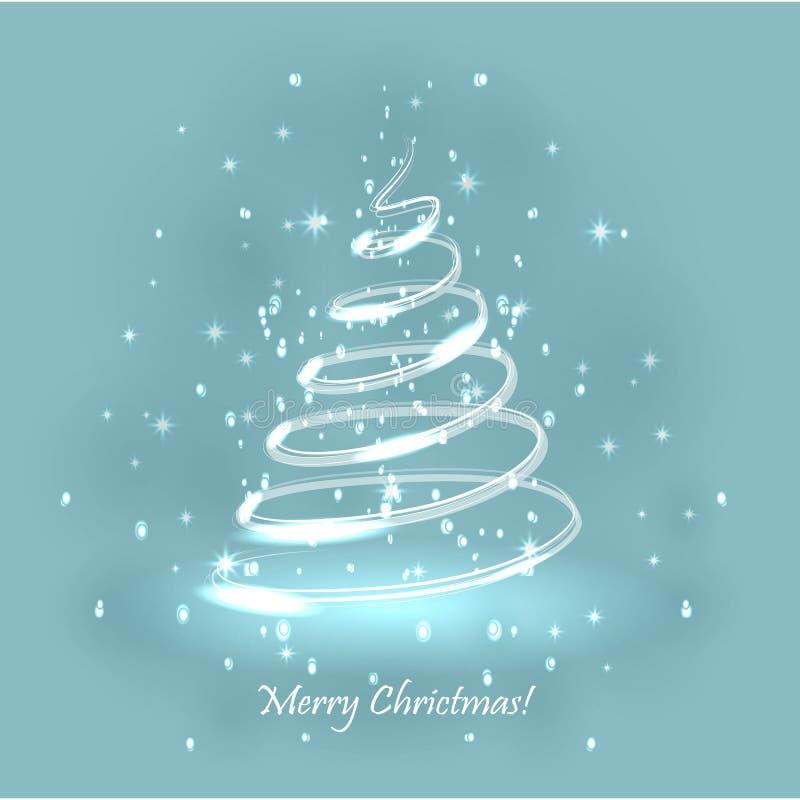 Download Tree För Regnbåge För Julfärger Magisk För Fractalbild För Bakgrund Blå Lampa Vektor Illustrationer - Illustration av beröm, lampa: 76701885