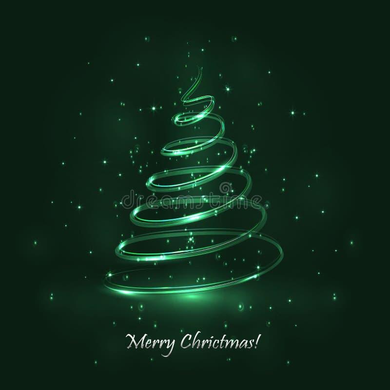 Download Tree För Regnbåge För Julfärger Magisk Grön Bakgrund Vektor Illustrationer - Illustration av kallt, sörja: 76701807