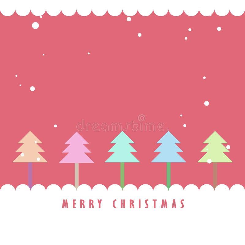 tree för snow för bakgrundsjul färgrik vektor illustrationer