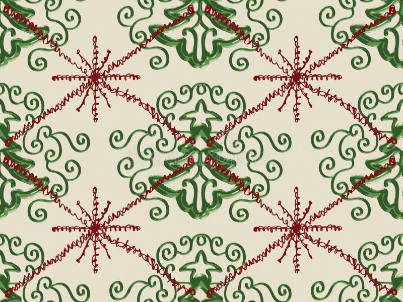tree för snowflake för julklottermodell royaltyfri illustrationer
