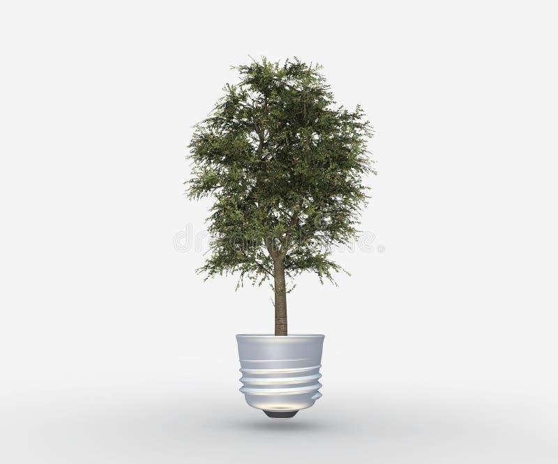 tree för stickkontakt för kulalampa vektor illustrationer