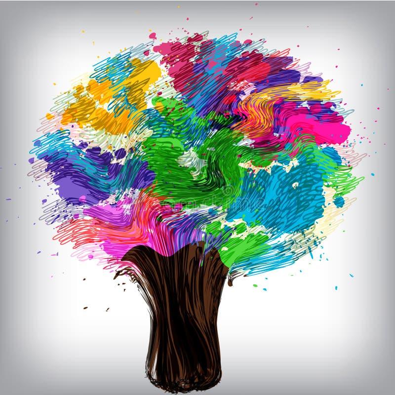 tree för tema för barnbegreppsillustration stock illustrationer